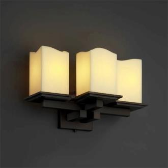 Justice Design CNDL-8676 CandleAria - Three Light Montana Wall Sconce