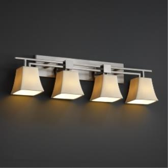 Justice Design CNDL-8704 CandleAria - Four Light Aero Bath Bar