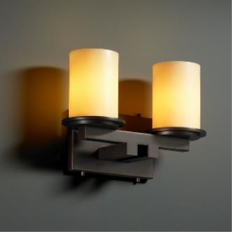 Justice Design CNDL-8772 Dakota - Two Light Straight Bath Bar