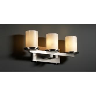Justice Design CNDL-8773 Dakota - Three Light Straight Bath Bar