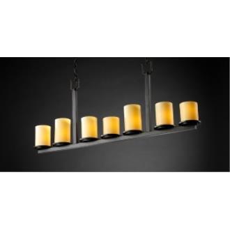 Justice Design CNDL-8779 Dakota 7-Light Bar Chandelier