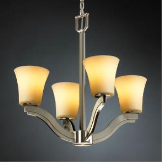 Justice Design CNDL-8970 CandleAria - Four Light Chandelier
