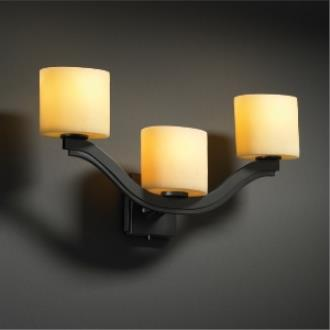 Justice Design CNDL-8976 CandleAria - Three Light Wall Sconce