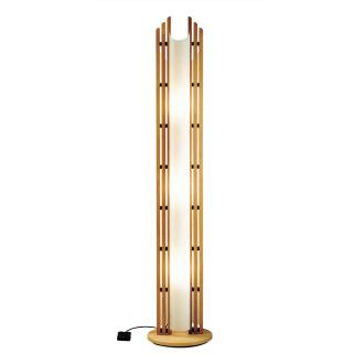 Justice Design DOM-8000 Domus - Three Light Beech Wood Floor Lamp