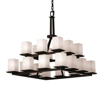 Justice Design FSN-8667 Montana 20-Light 2-Tier Ring Chandelier