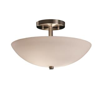 """Justice Design FSN-9690 14"""" Round Semi-Flush Bowl"""