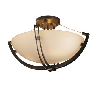 "Justice Design FSN-9711 18"" Semi-Flush Bowl w/ Crossbar"