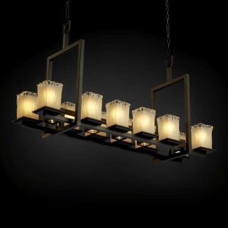 Justice Design GLA-8620 Montana - Seventeen Light Short Bridge Chandelier