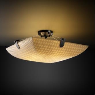 Justice Design PNA-9611 Porcelina - Three Light Semi-Flush Mount with U-Clip