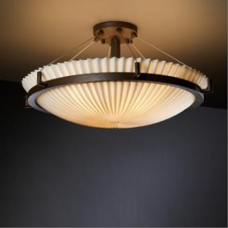 Justice Design PNA-9682 Porcelina - Six Light Round Semi-Flush Mount with Ring