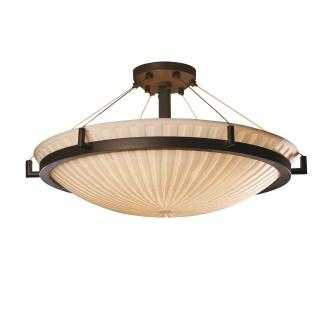 Justice Design PNA-9684 Porcelina - Eight Light Round Semi-Flush Mount with Ring
