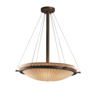 Justice Design PNA-9694 Porcelina - Eight Light Round Bowl Pendant with Ring