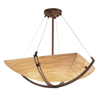 Justice Design PNA-9722 Porcelina - Six Light Bowl Pendant with Crossbar