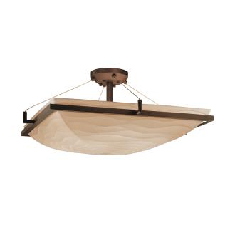 Justice Design PNA-9787 Porcelina - Eight Light Square Semi-Flush Mount with Ring