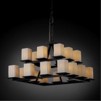Justice Design POR-8667 Montana - Twenty Light Two Tier Ring Chandelier