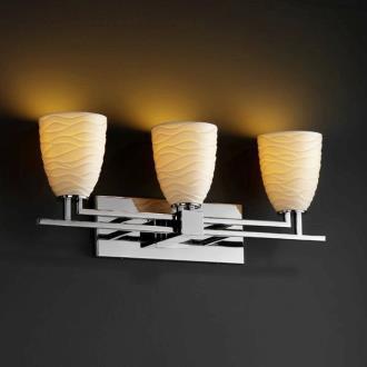 Justice Design POR-8703 Limoges - Three Light Bath Bar