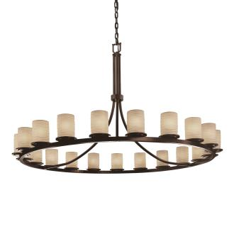 Justice Design POR-8716 Dakota 21-Light 1-Tier Ring Chandelier