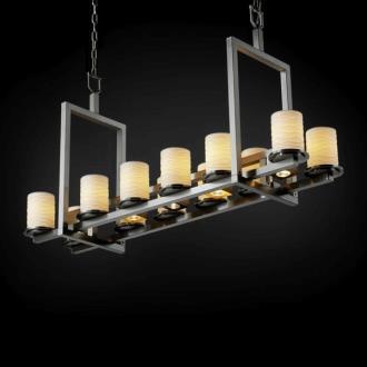 Justice Design POR-8720 Limoges - Seventeen Light Short Bridge Chandelier