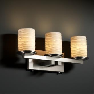 Justice Design POR-8773 Dakota 3-Light Straight-Bar Bath Bar