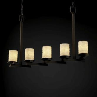 Justice Design POR-8787 Limoges - Five Light Zig-Zag Chandelier