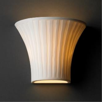 Justice Design POR-8810 Limoges - One Light Small Round Wall Sconce