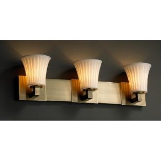 Justice Design POR-8823 Limoges - Three Light Bath Bar