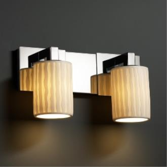 Justice Design POR-8922 Limoges - Two Light Bath Bar