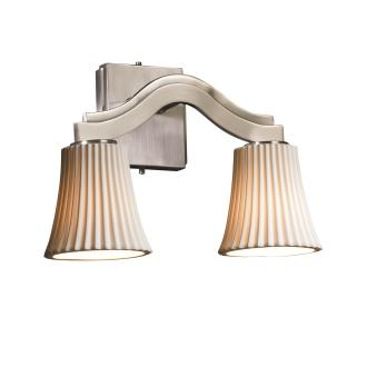 Justice Design POR-8975 Bend Two Light Wall Sconce (Style 2)