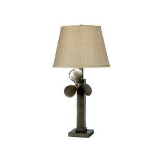 Kenroy Lighting 32129WS Prop - One Light Table Lamp