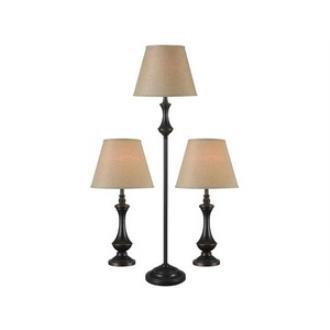 Kenroy Lighting 32199ORB Genie - One Light Combo lamp(2 Table Lamp and 1 Floor Lamp)