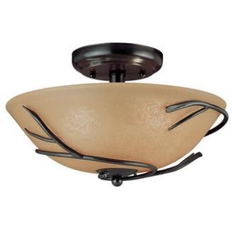 Kenroy Lighting 90906BRZ Twigs Flush Mount