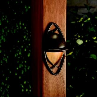 Kichler Lighting 15469TZT Cathedral - Low Voltage One Light Deck Pocket Wall Mount