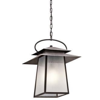Kichler Lighting 49535WZC Woodland Lake - One Light Outdoor Pendant
