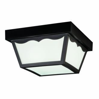 Kichler Lighting 9322BK Two Light Outdoor Flush Mount
