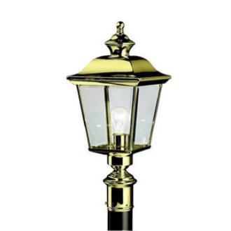 Kichler Lighting 9913PB Bay Shore - One Light Post Mount
