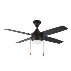Aikman Single Light Led Ceiling Fan Rated For Damp Locations