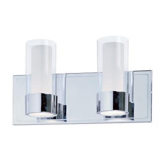 Maxim Lighting 23072CLFTPC Silo - Two Light Bath Vanity