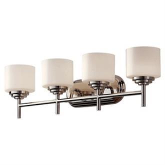 Feiss VS26004-PN Malibu - Four Light Bath Bar