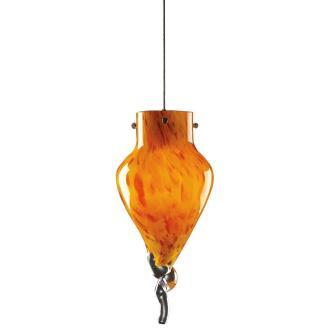 PLC Lighting 326 AMBER Icicle - One Light Mini-Drop Pendant