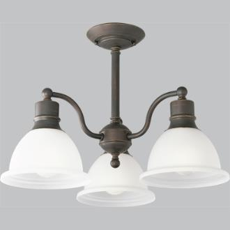 Progress Lighting P3663-20 Three-Light Semi-Flush Close-To-Ceiling Fixture