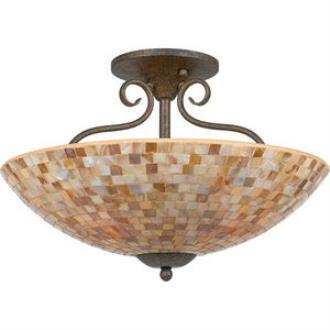 Quoizel Lighting MY1718 Monterey Mosaic - Four Light Semi-Flush Mount