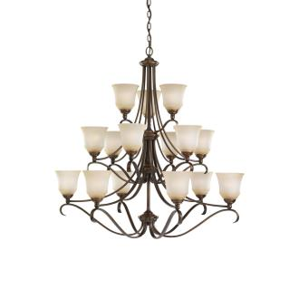 Sea Gull Lighting 39382BLE-829 15-Light Fluorescent Chandelier