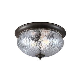 Sea Gull Lighting 7826403BLE-780 Garfield Park - Three Light Outdoor Flush Mount