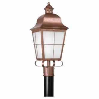 Sea Gull Lighting 82973PBLE Chatham - One Light Post Lantern