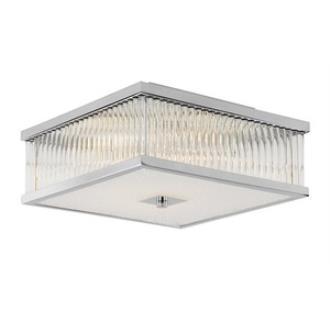 Trans Globe Lighting 10162 PC Squared Sunburst - Four Light Flush Mount