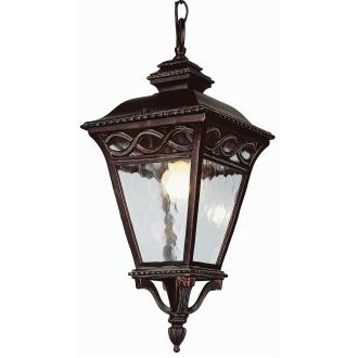 Trans Globe Lighting 50517 BRB Three Light Outdoor Hanging Lantern