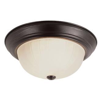 Trans Globe Lighting PL-13213-1 BN Two Light Semi-Flush Mount