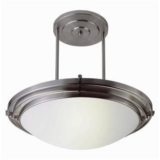 Trans Globe Lighting PL-2481 BN Two Light Large Semi-Flush Mount