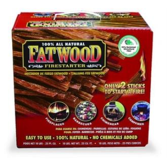 UniFlame C-1710 10 Inch Fatwood in Color Carton