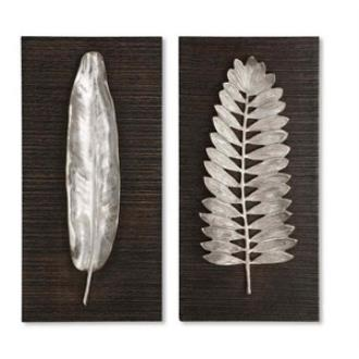 Uttermost 04001 Silver Leaves Decorative Mirror - Set of Two